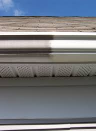 Partially polished gutters